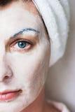 Massage facial de station thermale Photographie stock