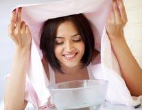 Massage facial de station thermale de beauté Photo libre de droits
