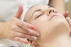 Massage and facial peels Royalty Free Stock Image