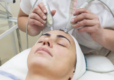 Massage and facial peels Royalty Free Stock Images
