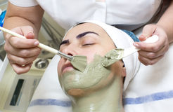 Massage and facial peels Stock Image
