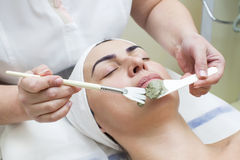 Massage and facial peels Stock Photo