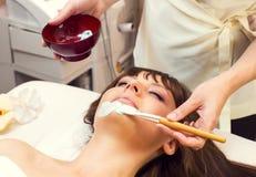 Massage and facial peels Royalty Free Stock Photo