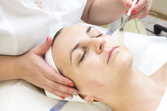 Massage and facial peels Royalty Free Stock Photo