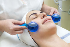 Massage and facial peels Royalty Free Stock Photography