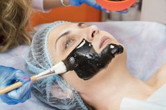 Massage and facial peels at the salon Royalty Free Stock Photo