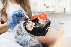 Massage and facial peels at the salon Royalty Free Stock Photography
