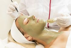 Massage and facial peels at the salon Royalty Free Stock Photos
