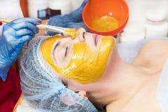 Massage and facial peels at the salon Stock Image
