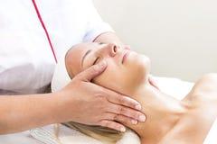 Massage and facial peels at the salon Stock Photo