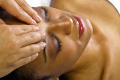 Massage facial/principal photos libres de droits