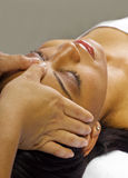 Massage facial/principal photo libre de droits