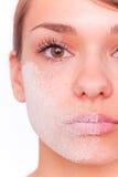 Massage facial sec de Skincare Photo libre de droits