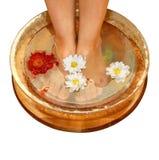 Massage of feet royalty free stock photos
