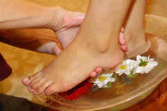Massage of feet Royalty Free Stock Photos