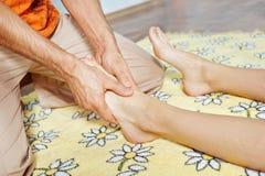 Massage of feet Stock Photos