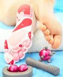 Massage of feet Royalty Free Stock Image