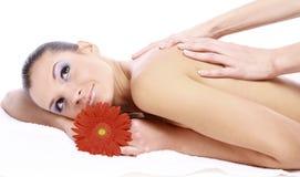 Massage of female stock image