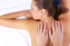 Massage of female back Stock Images