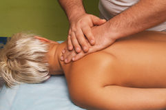 Massage of female body Stock Photo
