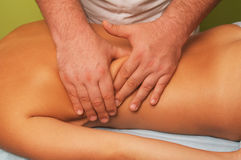 Massage of female body Stock Images