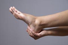 Massage of female feet Stock Images
