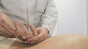 Massage fingers and palms of the hands, a massage therapist doctor stock video