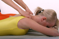 Massage after Fitness stock image