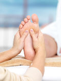 Massage on the foot stock photography