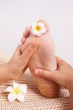 Massage foot Stock Image