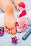 Massage on the foot Stock Photos