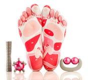 Massage on the foot Stock Photo