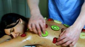 massage fruité banque de vidéos