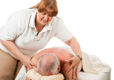 Massage - Gentle Touch Royalty Free Stock Photos