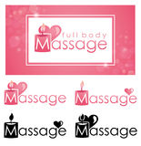 Massage gift certificate. Royalty Free Stock Photography