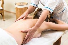Massage gir Stock Photography