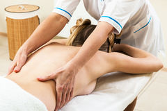 Massage girl Royalty Free Stock Image