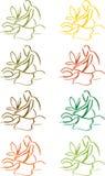Massage graphics. Spa, wellness, body care illustration Stock Images