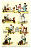 Massage, gymnastic, postures, vintage illustration Royalty Free Stock Photography
