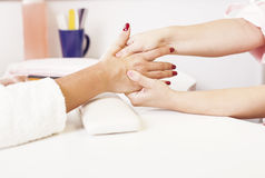 Massage hands Royalty Free Stock Image