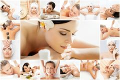 Massage and healing  collection. Royalty Free Stock Image