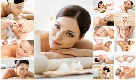 Massage and healing  collection. Stock Photo