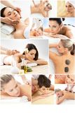 Massage and healing  collection. Royalty Free Stock Photos