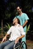 Massage: healthcare worker Royalty Free Stock Image