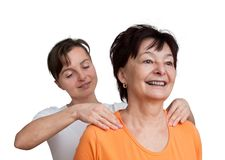 Massage - healthy retirement Royalty Free Stock Photo