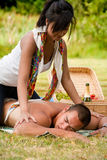 A massage for him Royalty Free Stock Photo