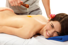 Massage honey woman young beautiful Stock Photos