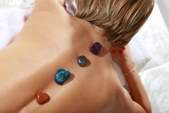 Massage hot mineral stone Royalty Free Stock Photo
