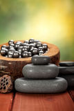 Massage hot stones Royalty Free Stock Images