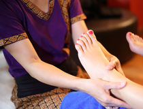 Massage of human foot Royalty Free Stock Photos